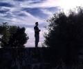 Standing on German mebu, Hindenburg Line, Henin Hill