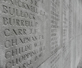 Names of the missing on the Vis en Artois Memorial