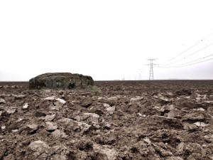 German concrete position close to the final objective seized by 9th Rifle Brigade on 9 April 1917