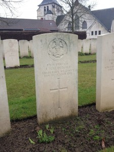 Private James MacDonald, 17th Middlesex - first casualty of the battalion at Cambrin Churchyard Extension
