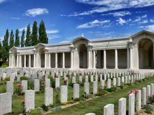 Arras Memorial where Horace Pantling and a further 35,000 servicemen from the United Kingdom, South Africa and New Zealand who died in the Arras sector between the spring of 1916 and 7 August 1918 are commemorated