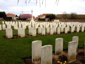 Bruay Communal Cemetery Extension - final resting place of Hugh Mariner Teed and many other Canadians from the Vimy fighting