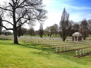 The beautiful Ecoivres Military Cemetery