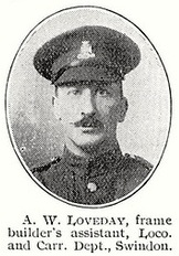 Arthur William Loveday DCM & Bar, 1st Wiltshire Regiment