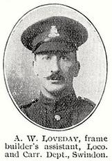 Arthur William Loveday DCM & Bar, 1st Wiltshire Regiment