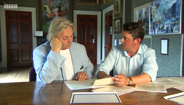 David Emanuel and Jeremy Banning - filming for BBC One's 'Coming Home'