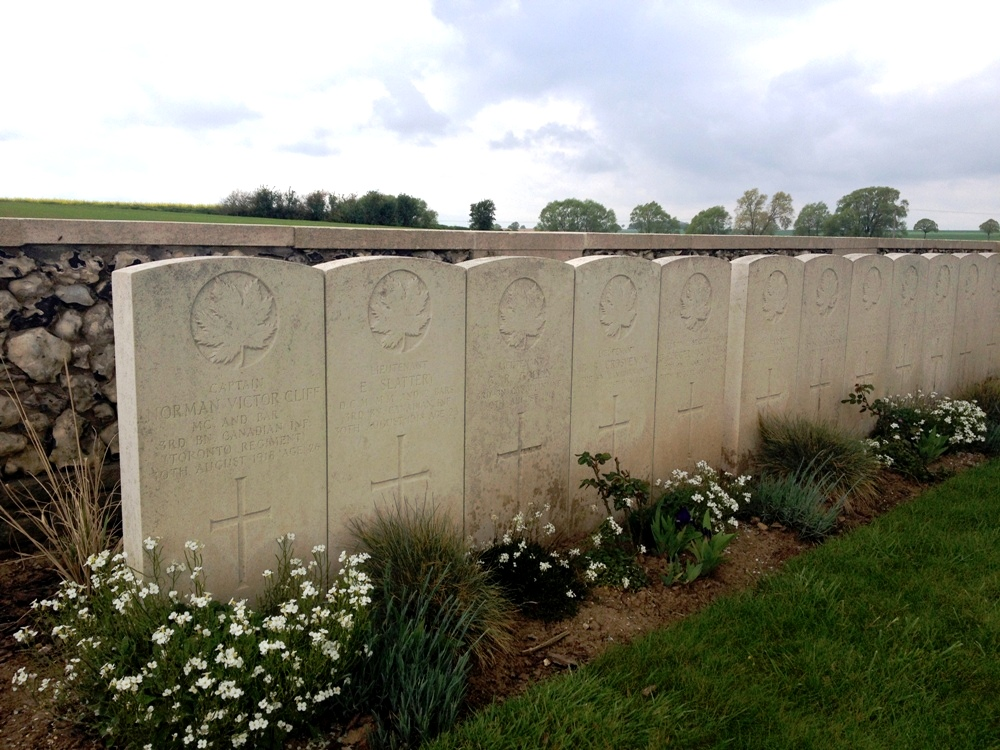 Highly decorated Canadians from 3rd Battalion, Valley Cemetery, Vis-en-Artois