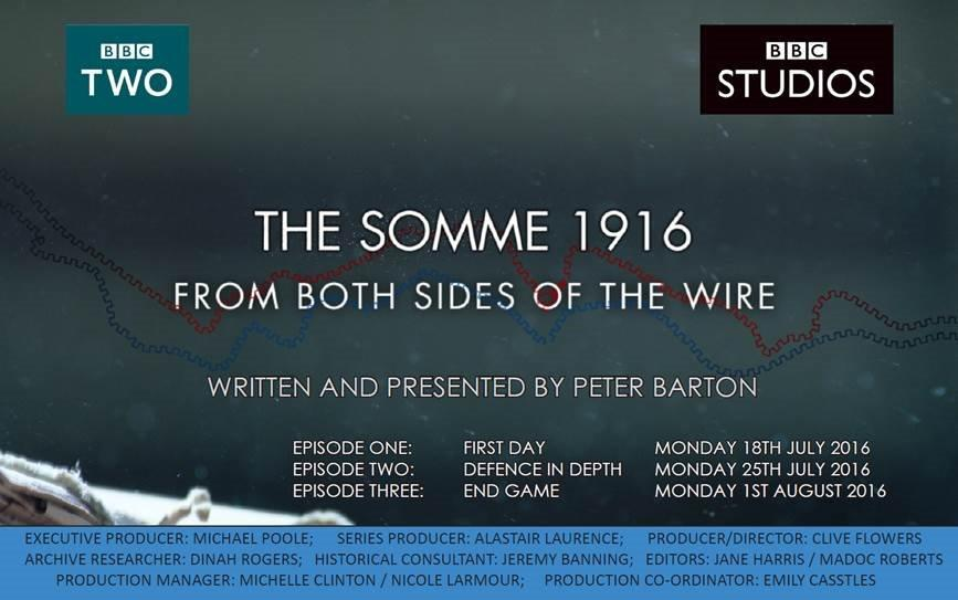 The Somme 1916 - From Both Sides of the Wire TX Card