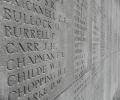 Names of the missing on the Vis en Artois Memorial