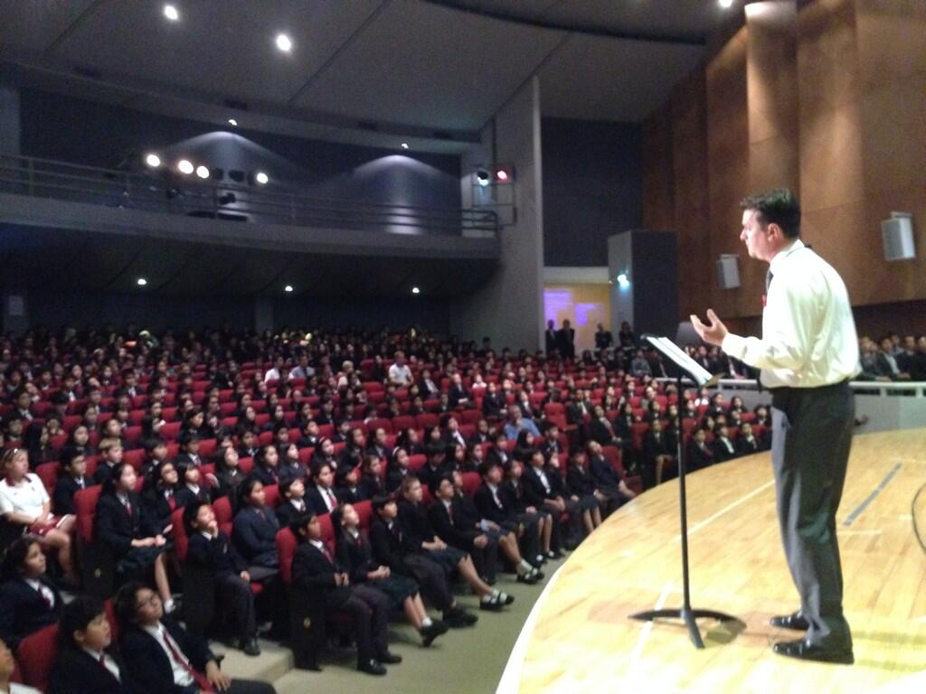 Giving the Senior School Remembrance Assembly