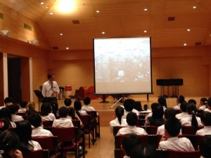 Talking to Year 6 students about my work