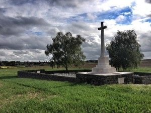 Tank Cemetery, Guemappe where many men of the 10th Loyal North Lancs killed on 11 April 1917 now lie