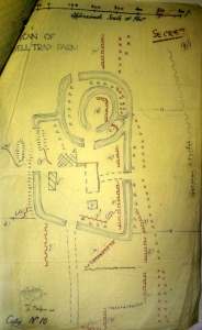 Detailed sketch map showing trench positions around Shell Trap Farm prior to 24 May gas attack. Image taken from 4th Division General Staff HQ May 1915 War Diay (NA Ref: WO95/1442) and is reproduced with permission from the National Archives.