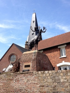 Newfoundland Caribou, Monchy-le-Preux commemorating the battalion's action on 14 April 1917