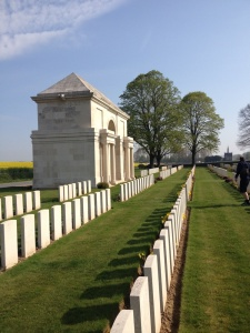 Our first stop on day one - Serre Road Cemetery No 2