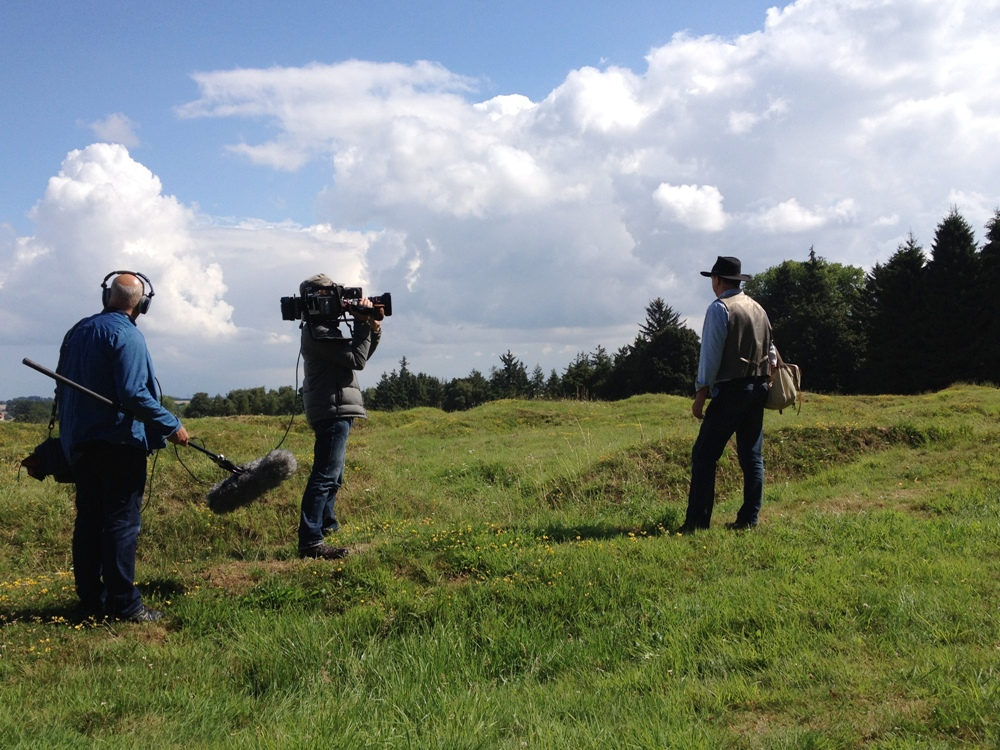 Peter Barton - filming at Newfoundland Memorial Park, Beaumont Hamel